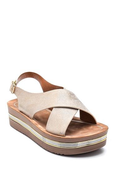Altın Kadın Casual Sandalet 5638262429