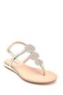 5638267268 Kadın Casual Taş Detaylı Sandalet