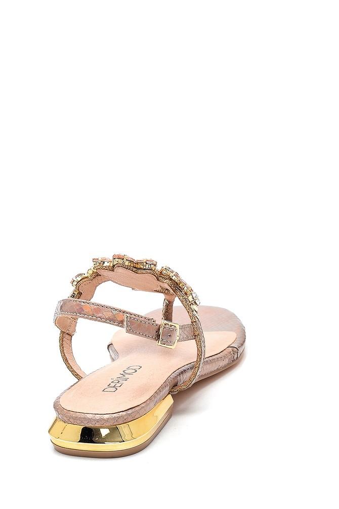 5638267301 Kadın Casual Taş Detaylı Sandalet