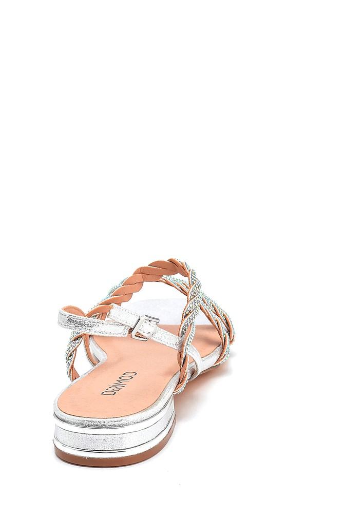 5638267310 Kadın Casual Taşlı Sandalet