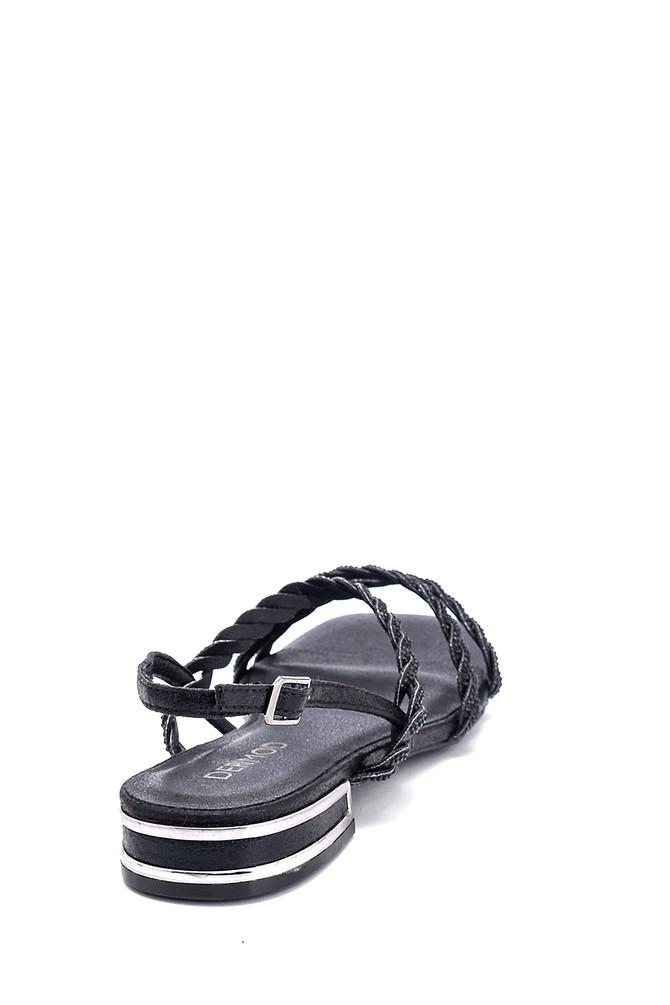 5638267308 Kadın Casual Taşlı Sandalet