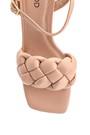 5638267394 Kadın Örgü Detaylı Topuklu Sandalet