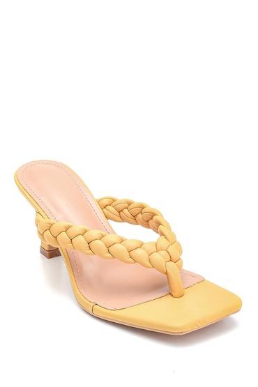 Sarı Kadın Casual Topuklu Terlik 5638268525