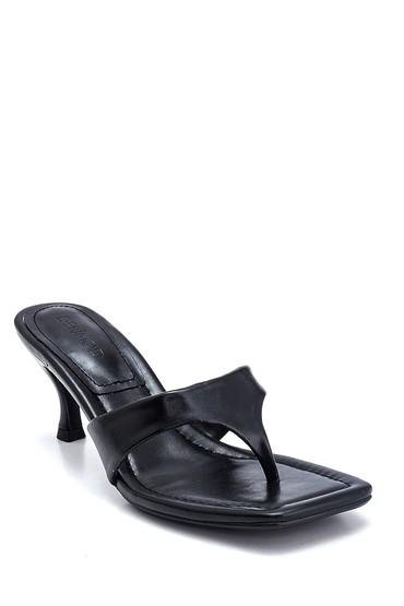 Siyah Kadın Casual Topuklu Terlik 5638268574