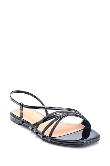 Siyah Kadın Casual Rugan Sandalet 5638268597