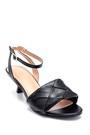 5638268659 Kadın Örgü Detaylı Topuklu Sandalet