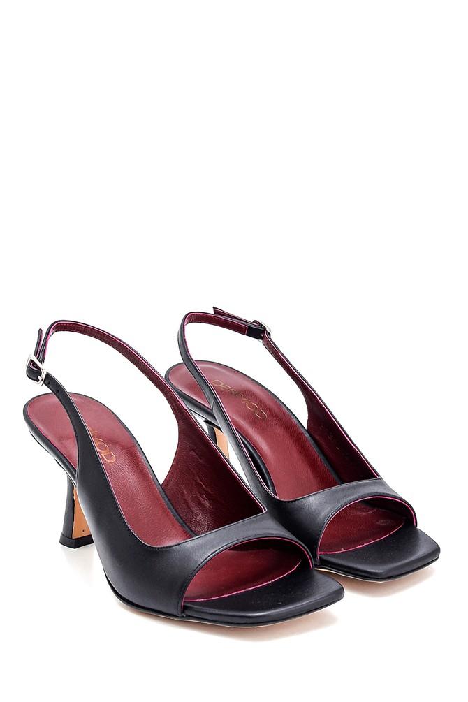 5638286971 Kadın Topuklu Deri Sandalet