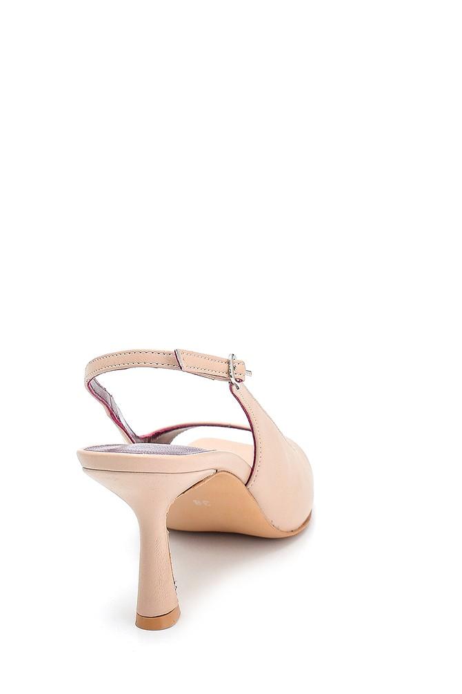 5638286973 Kadın Topuklu Deri Sandalet