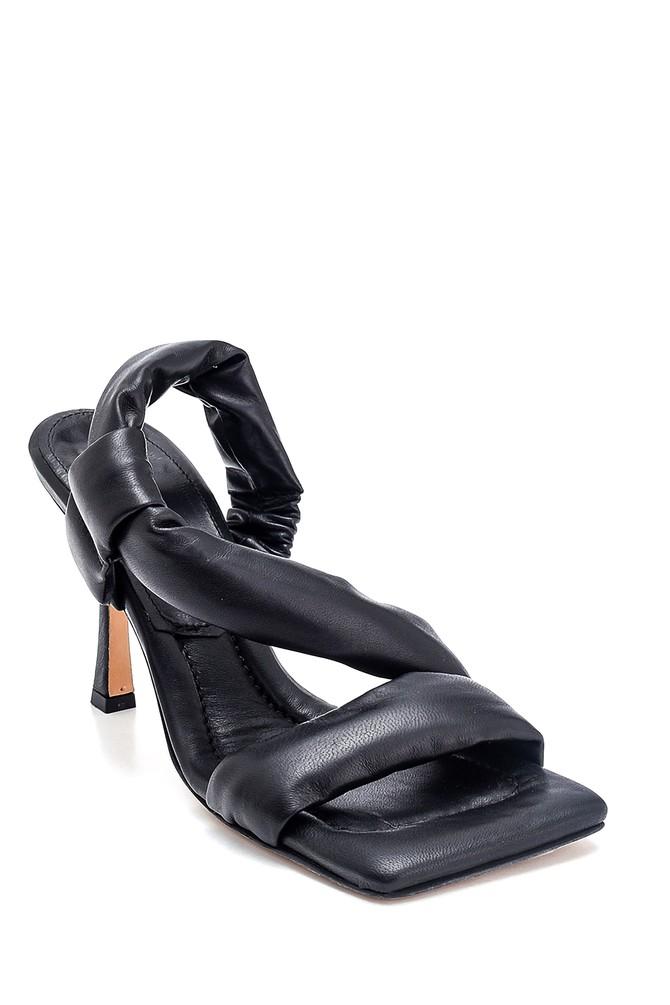5638286994 Kadın Casual Topuklu Deri Sandalet