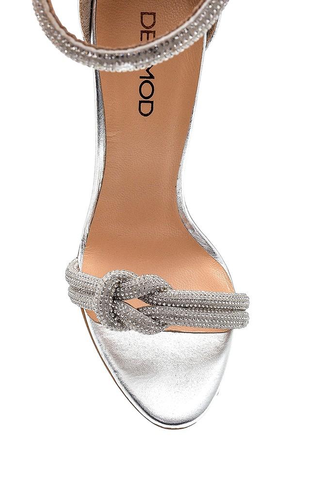 5638287049 Kadın Yüksek Topuklu Deri Sandalet