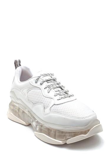 Beyaz Kadın Şeffaf Taban Detaylı Sneaker 5638294403