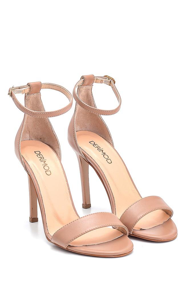 5638297498 Kadın Casual Topuklu Deri Sandalet