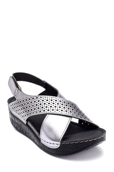 Gri Kadın Casual Dolgu Topuk Sandalet 5638305739