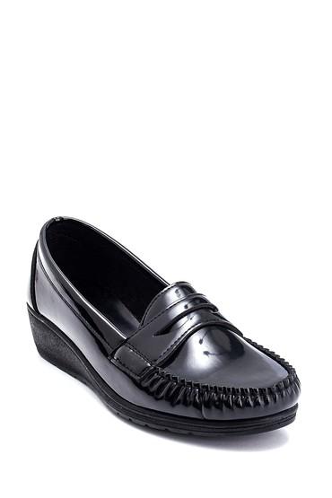 Siyah Kadın Casual Dolgu Topuk Loafer 5638323585