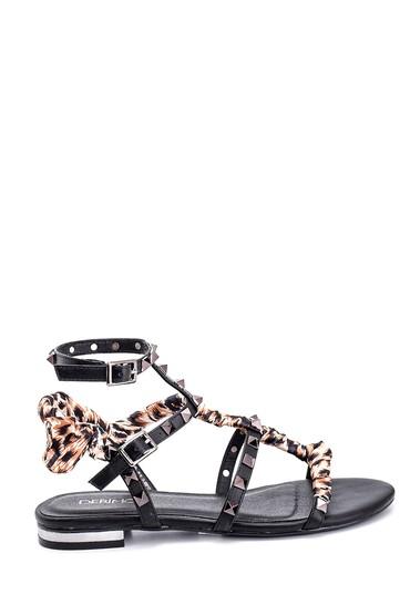 Siyah Kadın Casual Sandalet 5638135747