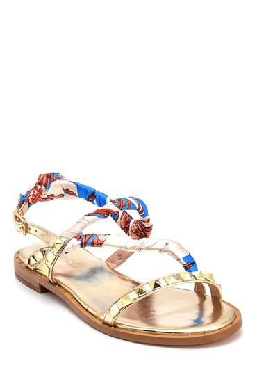 Altın Kadın Casual Sandalet 5638135813