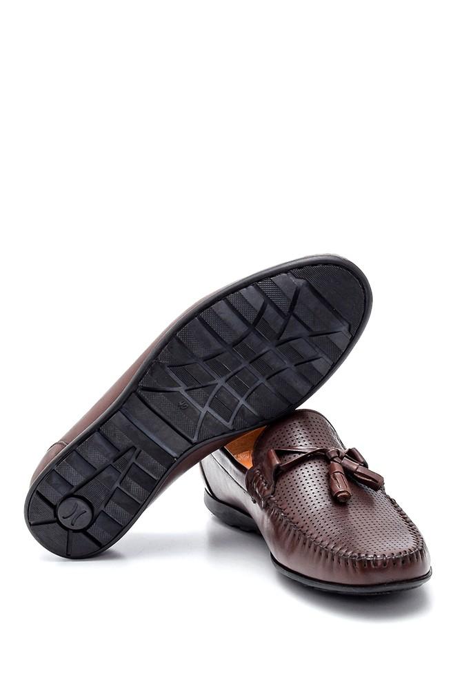5638245673 Erkek Deri Püskül Detaylı Loafer