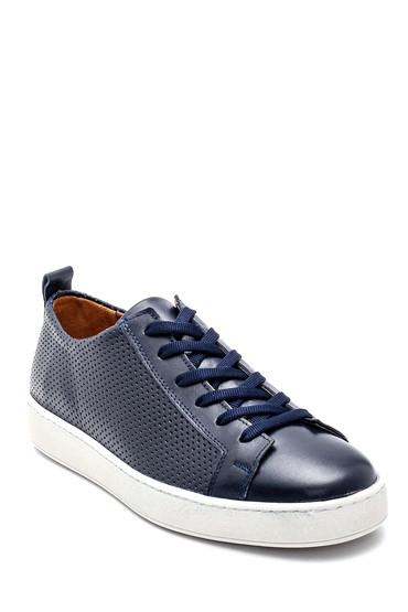 Lacivert Erkek Deri Sneaker 5638257905