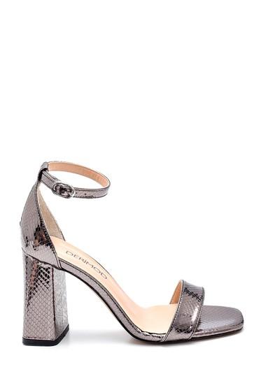 Bronz Kadın Yüksek Topuklu Sandalet 5638273657