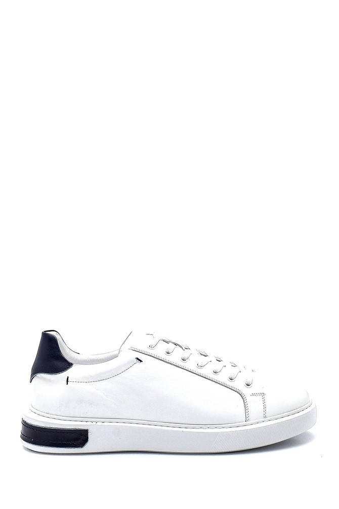 Beyaz Erkek Deri Sneaker 5638277084