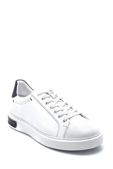 Beyaz Erkek Deri Sneaker 5638277076