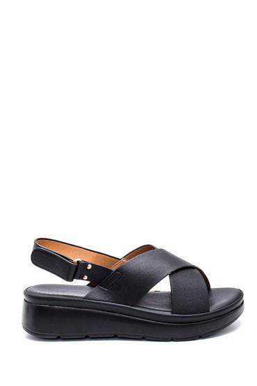 Siyah Kadın Casual Sandalet 5638261333