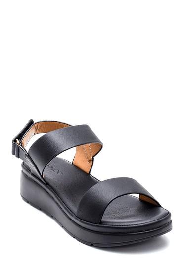 Siyah Kadın Casual Sandalet 5638261351