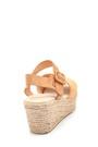5638261370 Kadın Hasır Tabanlı Casual Sandalet