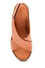 5638273894 Kadın Comfort Dolgu Topuk Deri Sandalet
