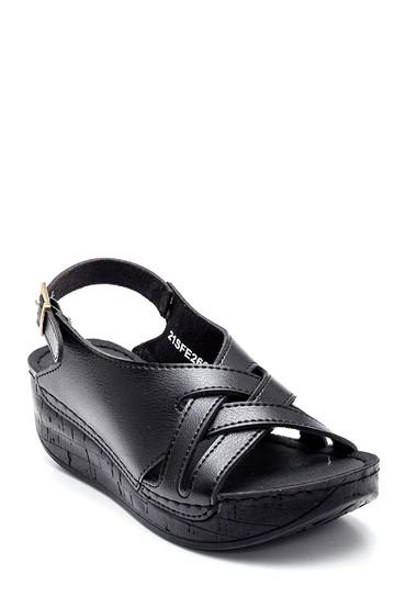 Siyah Kadın Casual Dolgu Topuk Sandalet 5638299605