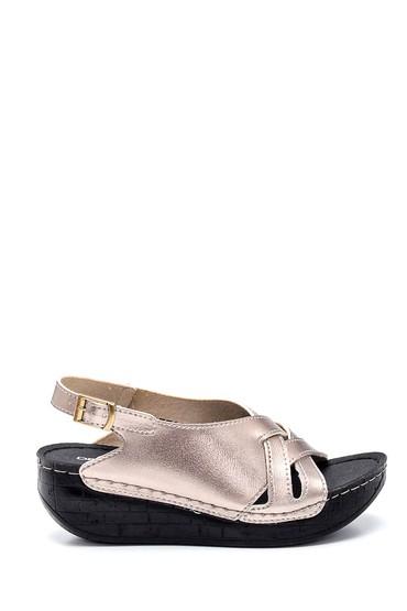 Platin Kadın Casual Dolgu Topuk Sandalet 5638305729