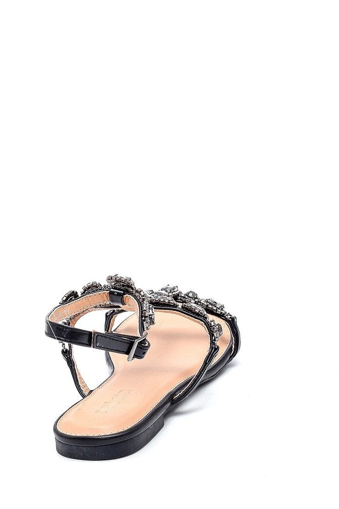 5638150104 Kadın Casual Taş Detaylı Sandalet