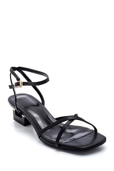 Siyah Kadın Casual Topuklu Sandalet 5638268681
