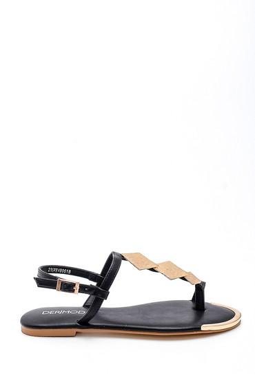 Siyah Kadın Casual Sandalet 5638258337