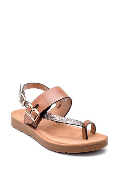 Taba Kadın Parmak Arası Casual Sandalet 5638262302