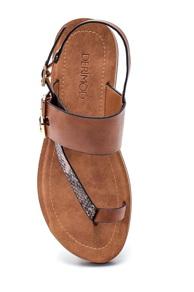 5638262302 Kadın Parmak Arası Casual Sandalet