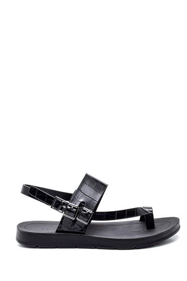 Siyah Kadın Parmak Arası Casual Sandalet 5638262315
