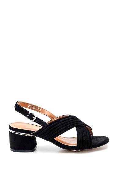 Siyah Kadın Casual Topuklu Sandalet 5638262469