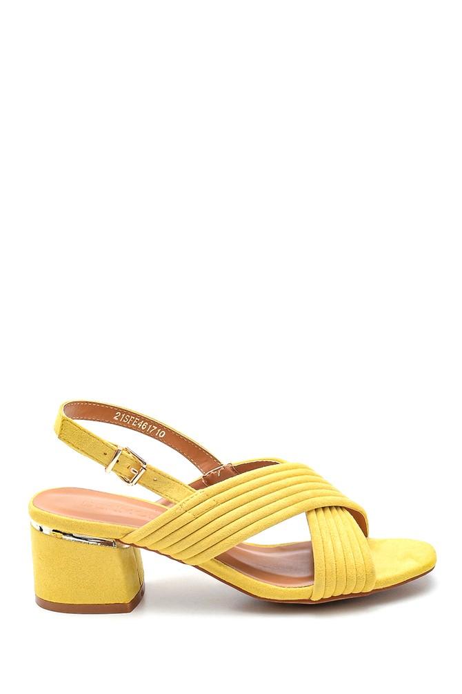 Sarı Kadın Casual Topuklu Sandalet 5638262471