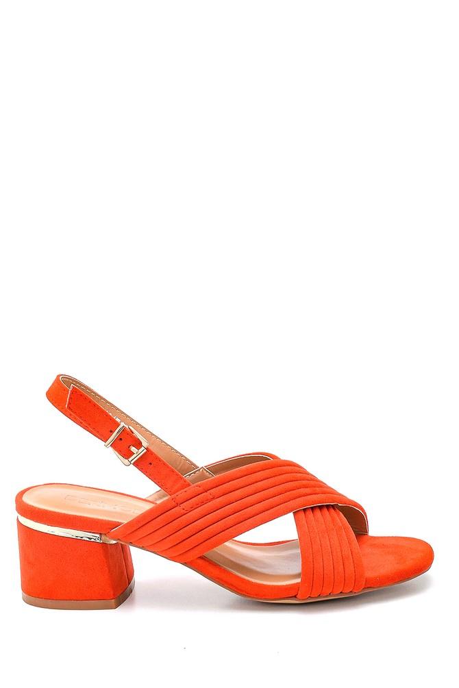 Kırmızı Kadın Casual Topuklu Sandalet 5638262485