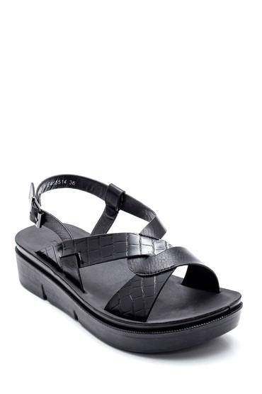 Siyah Kadın Casual Sandalet 5638263289