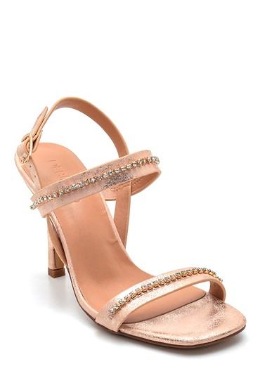 Pembe Kadın Taş Detaylı Casual Topuklu Sandalet 5638263537