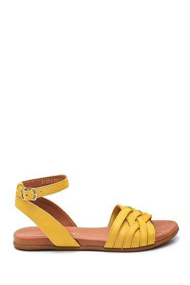 Sarı Kadın Casual Deri Sandalet 5638260004
