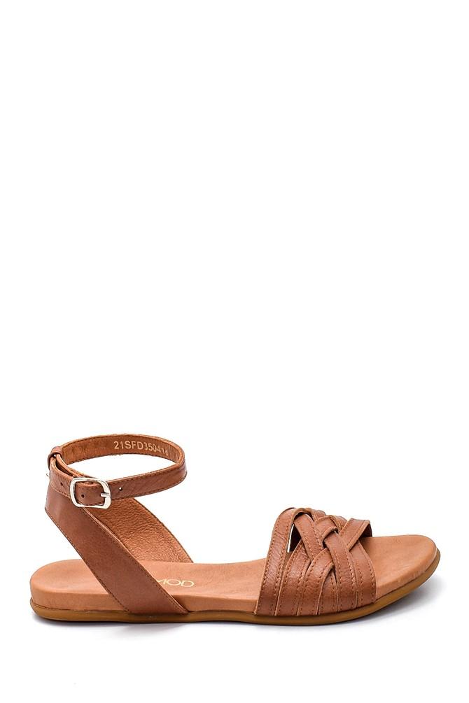 Taba Kadın Casual Deri Sandalet 5638260016