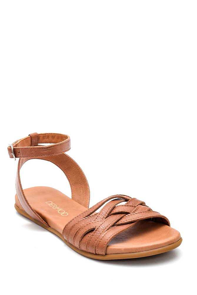 5638260016 Kadın Casual Deri Sandalet