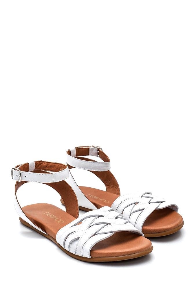 5638260012 Kadın Casual Deri Sandalet