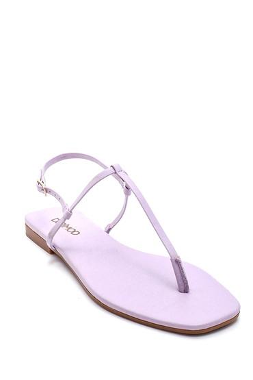 Lila Kadın Casual Parmak Arası Sandalet 5638268083
