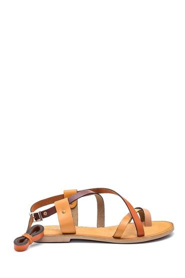 Multi Renk Kadın Casual Deri Sandalet 5638261916