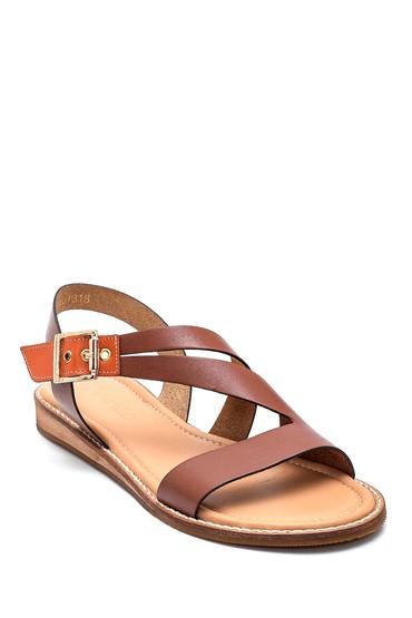 Taba Kadın Casual Deri Sandalet 5638261934