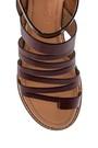 5638261953 Kadın Parmak Arası Detaylı Casual Deri Sandalet